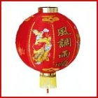 Red Chinese Lantern with dragon