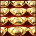 Boat Shaped Gold Ingots
