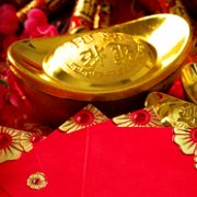 Chinese New Year Ornaments: Gold Ingot, Yuanbao, Sycee