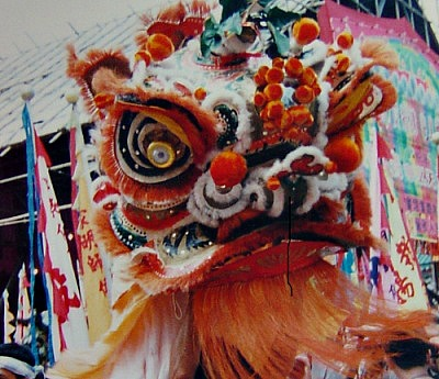 Lion dance in HK