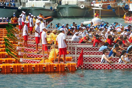 Chinese Dragon Boat Races in HK