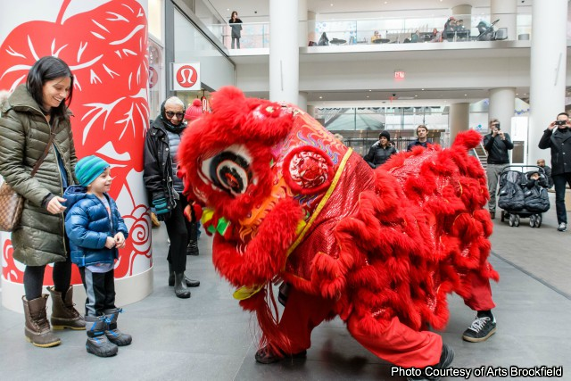 NYC Lion Dance at Lunar New Year Celebrations at Brookfield Place