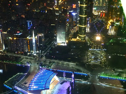 Night Views from Canton Tower Observation Deck