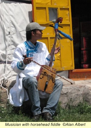 Musician with Horsehead Fiddle Inner Mongolia