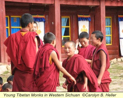 Young Tibetan Monks in Western Sichuan