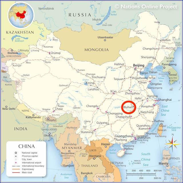China Coronavirus Map: Wuhan