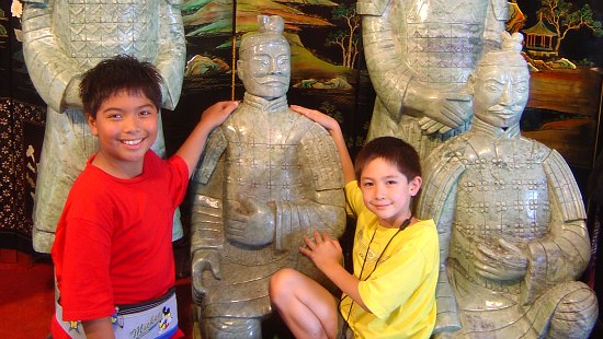 Pottery factory in Xian where replicas of the terracotta warriors are made