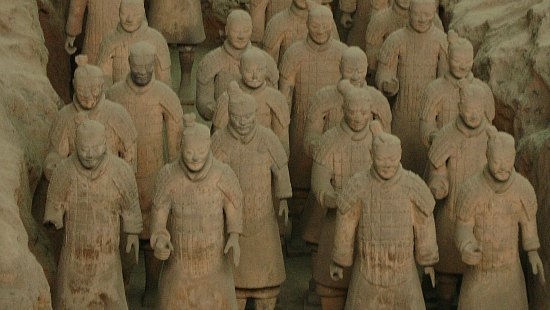 Warriors of the Terracotta Army in Xian