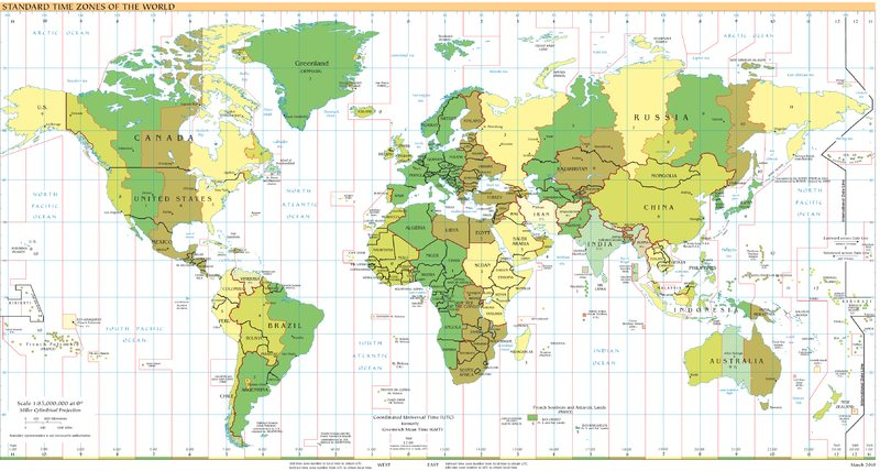 China Time Zones And Time Differences