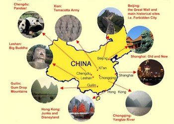 China Travel Guide: Map