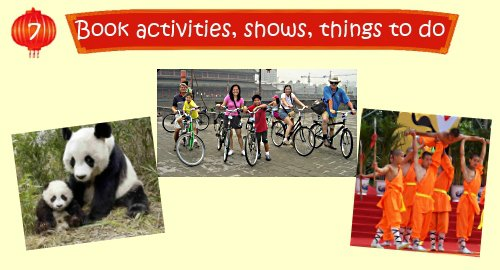 China Travel Planner: Booking Shows, Activities, Things to do
