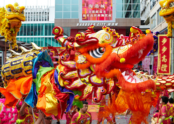 Dragon Parade for Chinese New Year