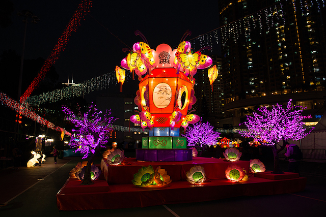 Chinese Lantern Festival Dragon Lanterns