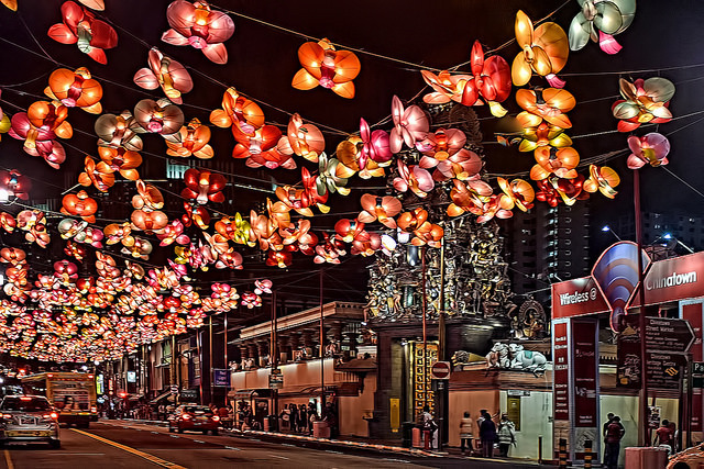 Lanterns during Mid-autumn Festival in Singapore