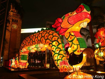 Dragon Lantern in Hong Kong