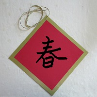 chinese character writing spring