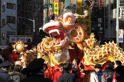 Chinese New Year Dragon Parade in New York City