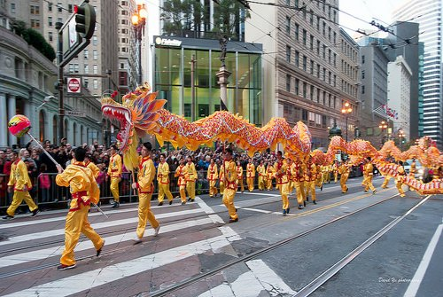 Gold Dragon Parade in San Francisco