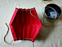 Making Easy  Chinese Paper Hanging Lantern Step 4