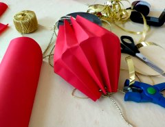 Making Easy  Chinese Paper Hanging Lantern Step 5