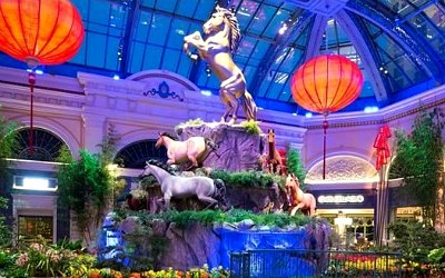 Year of the Horse  display at the Bellagio Las Vegas