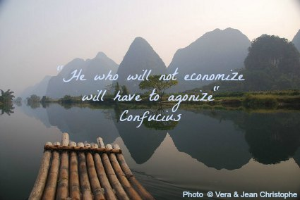 He who will not economize will have to agonize - Confucius