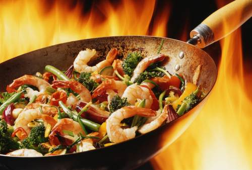 Chinese cooking utensils: wok