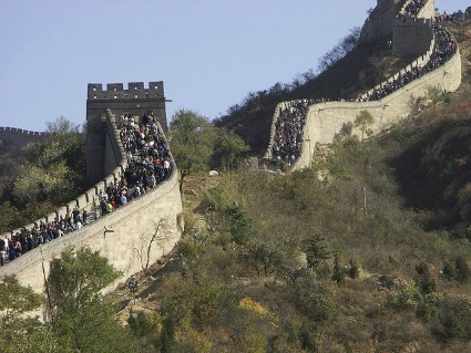 Crowds at the Great Wall during Holidays