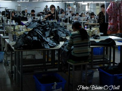 Economy of China: Manufacturing  Garment Factory in Shanghai