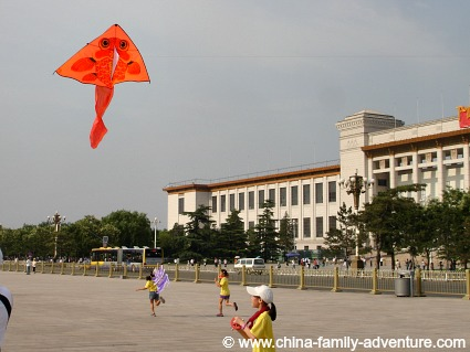 Tiananmen Square Children Flying Kites