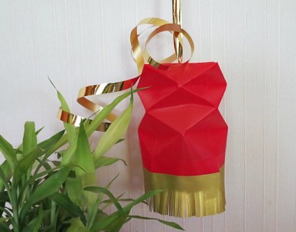 Square or box shaped paper lanterns