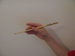 How to Eat with Chopsticks Step 1