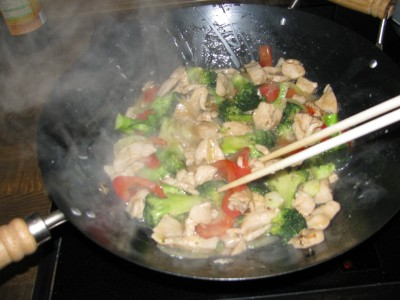 Cooking with chopsticks