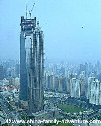 Jinmao Tower and Shanghai World Financial Center