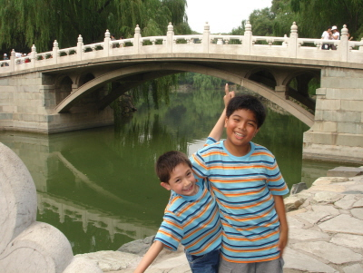 Kids at Beihai Park Beijing