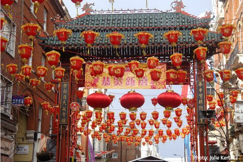 Chinatown Getting ready for Chinese New Year in London