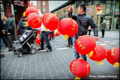Getting ready for Chinese New Year in London