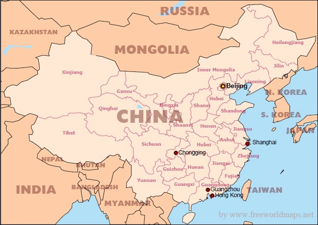 Countries Bordering China Map.Where Is China