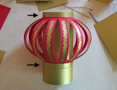 Making   Chinese New Year Lanterns Step 10