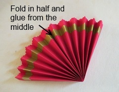 Making   Chinese Paper Fan Step 4
