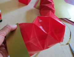 Making Square or Box Shaped Paper Lanterns Step 17