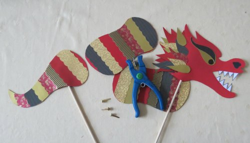 Making a Chinese New Year Dragon