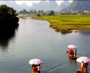 Beautiful Karst Mountain Scenery in Guilin