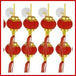 Red mini lanterns