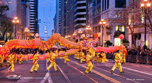 CNY Grand Dragon Parade in San Francisco:Golden Dragon