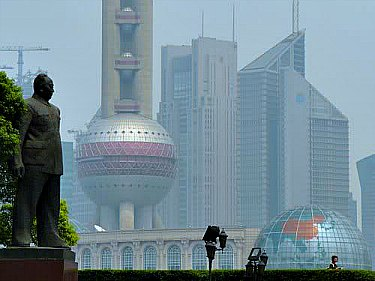 Modern Shanghai Skyline And The Oriental Pearl Tv Tower