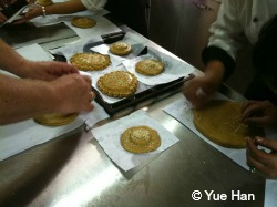 Making Local cakes in Shangri La
