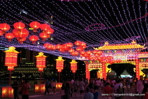 Singapore Chinese New Year River Hongbao Carnival Lights