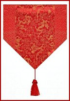 Red and Gold Table Runner