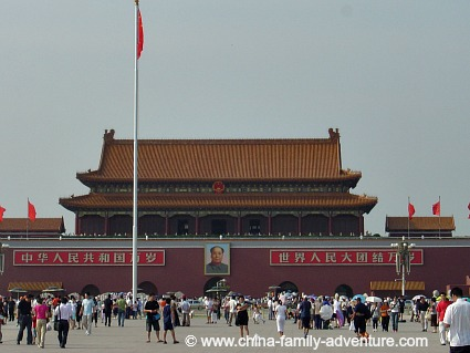 Tiananmen Square, Tiananmen Gate with Portrait of Mao